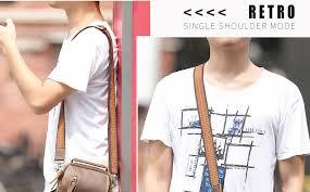 <b>TIANHOO</b> Mini messenger bags <b>retro</b> cow leather man <b>bag</b> ...