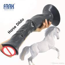 <b>FAAK</b> 13.8 Inch <b>Huge</b> Penis Animal <b>Horse</b> Dildo Dick With Strong ...