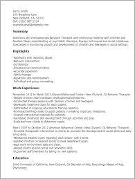 professional behavior therapist templates to showcase your talent    resume templates  behavior therapist