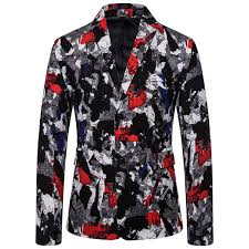 2019 <b>Men'S</b> Casual Western Clothing <b>Men'S National Style</b> Printing ...