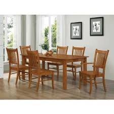 Marbrisa Mission Oak <b>Seven</b>-<b>Piece Dining Set</b> | 100621-S7 | Dining ...