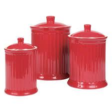 Red Retro Kitchen Accessories Furniture Charming Kitchen Canister Sets For Kitchen Accessories