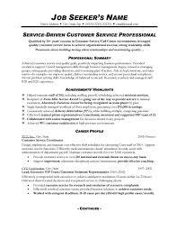 Example Resume  Service Driven Customer Service Professional For Functional Resume Sample Customer Service Career Profile     Binuatan