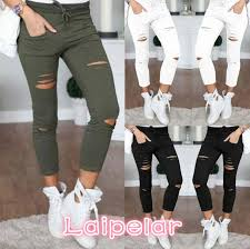 Online Shop New 2018 Skinny <b>Jeans Women Denim</b> Pants Holes ...