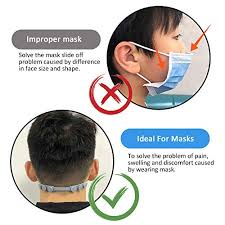 4 PCS <b>Adjustable Anti-Slip Mask Ear</b> Grips Extension Hook,Masks ...