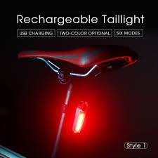 <b>Rechargeable</b> Bicycle <b>Rear</b> Light Smart Auto Brake Sensing Light ...
