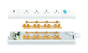 Bull <b>4</b> Socket,2 <b>Fast Charging USB</b>, 1 Switch , 2 M Wire Extension ...