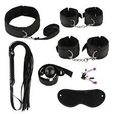 8PCS Black Sexy <b>Adult Product</b> SM Game Suit Bondage Set <b>Adult</b> ...