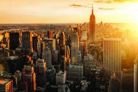 Image result for new york skyline sunrise