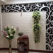 hot 3d brick pattern effect wallpaper neutral textured rustic white wall stickers home bedroom office decoration brick office furniture