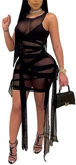 Women's Sexy Mesh See Through Dresses Long ... - Amazon.com