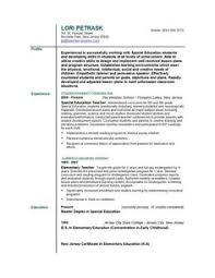 special education teacher resume httpwwwresumecareerinfospecial special education teacher sample resume