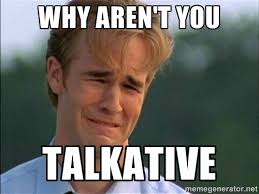 Why aren't you talkative - Crying Man | Meme Generator via Relatably.com