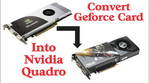 how to convert nvidia geforce card into quadro - YouTube