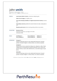 perth resume professional resume cover letter writing service resume