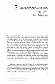macroeconomics and history springer inside