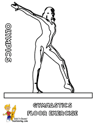 Gymnastics Coloring Sheets Free Rhythmic Gymnast Coloring Pages