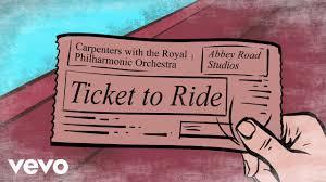<b>Carpenters</b> - <b>Ticket To</b> Ride (Lyric Video) - YouTube
