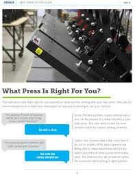 heat press buying guide heat press machines what press is right for you