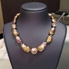 Extraordinary Metallic Chinese Freshwater Souffle <b>Pearl</b> Gold ...