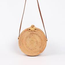 Round <b>woven straw handbag</b> perfect for summer outfits. Buy it now ...