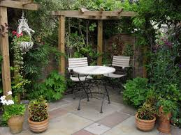 gallery outdoor living wall featuring: lawn amp gardenspanish outdoor design with mini garden also white dining table set antique