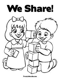 Small Picture Sharing Coloring Page Miakenasnet