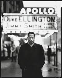 black brown and beige the new yorker duke ellington in front of the apollo theatre new york 1963