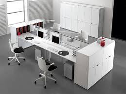 modern office interior design with double entity desk with storage by antonio morello interior cool office desks
