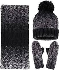 Arctic Paw Adult <b>3 Piece Winter</b> Bundle - Beanie Scarf and Mitten ...