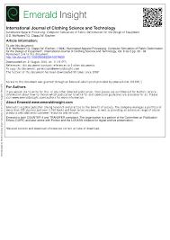 (PDF) <b>AUTOMATED APPAREL</b> PROCESSING: <b>COMPUTER</b> ...