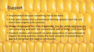 conventional and organic agriculture jacob belina ppt 6 support implemented