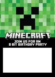 minecraft birthday invite me minecraft birthday invite is the best ideas you must choose for invitations templates