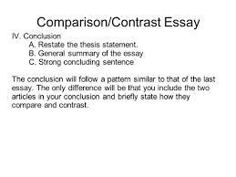conclusion paragraph for compare and contrast essay conclusion for writing portfolio mr butner writing portfolio due date comparison contrast essay iv conclusion a restate