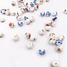 2019 <b>12MM</b> 10MM <b>Vintage Chinese Ceramic</b> Beads Fit Necklace ...