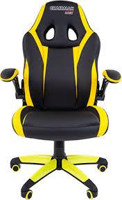<b>Кресло Chairman game 15</b> экопремиум черный/желтый 00 ...