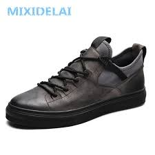 <b>MIXIDELAI Genuine Leather</b> First Grade Cow Leather Sneakers ...