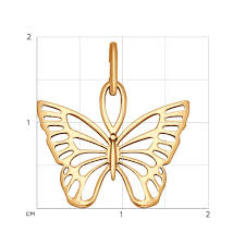 <b>Подвеска</b> из золота «<b>Бабочка</b>» <b>SOKOLOV</b> – купить в ...