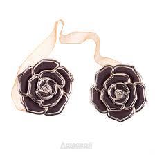 Зажимы для штор Роза, коричневые купить в интернет-магазине ...