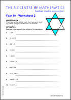 Year 10 Maths Revision Worksheets Australia | WorksheetYear 10 Worksheet 2