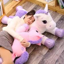 Giant <b>60</b>/80cm <b>Kawaii Unicorn</b> Stuffed Animals Soft Plush Doll ...