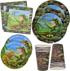 <b>Dinosaur</b> Plates and <b>Napkins</b> for 24 Guests for <b>Birthday Party</b> ...