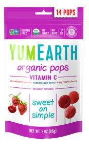 <b>Органические леденцы на палочке</b> YumEarth с фруктовыми ...