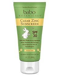 Babo Botanicals SPF <b>30 Clear Zinc</b> Lotion - 3 Ounces, Best Natural ...