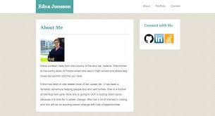 edna jonsson full stack web developer used html css to create a basic portfolio