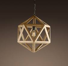 wooden pendant light wood polyhedron pendant small ceiling restoration hardware pendant lighting ceiling pendant lighting