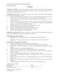 description cashier duties resume responsibilities resume brefash