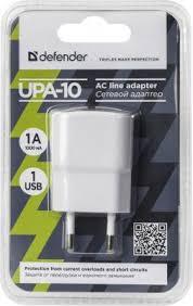 <b>Сетевое зарядное устройство Defender</b> UPA-10 1A белый 83540 ...