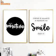 <b>Smile</b> Simple <b>Motivational</b> Quotes Wall Art Canvas Painting Nordic ...