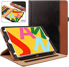 ZoneFoker New iPad 7th Generation <b>Tablet Leather Case</b> (10.2-inch ...